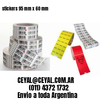 stickers 95 mm x 60 mm