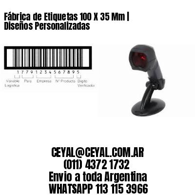 Fábrica de Etiquetas 100 X 35 Mm | Diseños Personalizadas