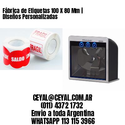 Fábrica de Etiquetas 100 X 80 Mm | Diseños Personalizadas