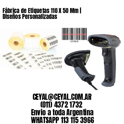 Fábrica de Etiquetas 110 X 50 Mm | Diseños Personalizadas