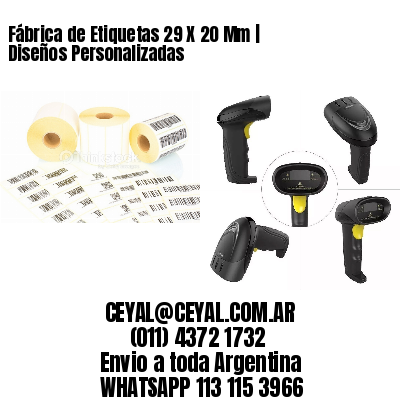 Fábrica de Etiquetas 29 X 20 Mm | Diseños Personalizadas