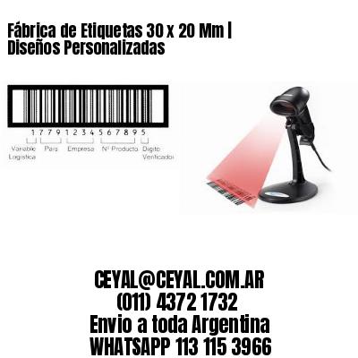 Fábrica de Etiquetas 30 x 20 Mm | Diseños Personalizadas