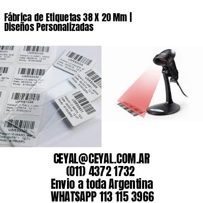 Fábrica de Etiquetas 38 X 20 Mm | Diseños Personalizadas