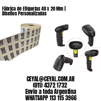 Fábrica de Etiquetas 40 x 20 Mm | Diseños Personalizadas