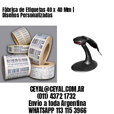 Fábrica de Etiquetas 40 x 40 Mm | Diseños Personalizadas