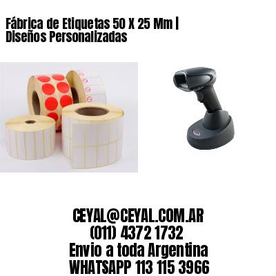 Fábrica de Etiquetas 50 X 25 Mm | Diseños Personalizadas