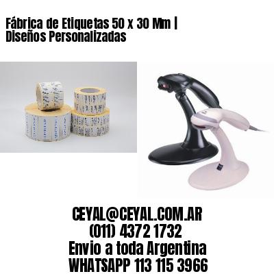 Fábrica de Etiquetas 50 x 30 Mm | Diseños Personalizadas
