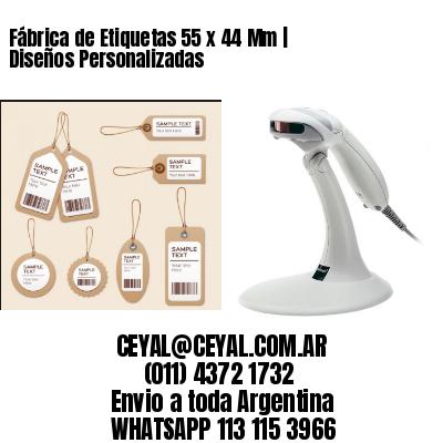 Fábrica de Etiquetas 55 x 44 Mm | Diseños Personalizadas