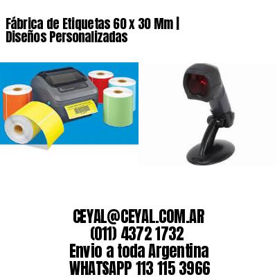 Fábrica de Etiquetas 60 x 30 Mm | Diseños Personalizadas