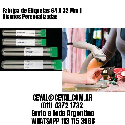 Fábrica de Etiquetas 64 X 32 Mm | Diseños Personalizadas