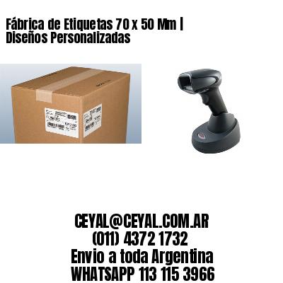 Fábrica de Etiquetas 70 x 50 Mm | Diseños Personalizadas