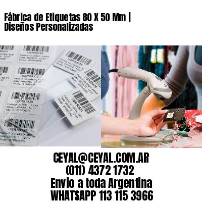 Fábrica de Etiquetas 80 X 50 Mm | Diseños Personalizadas