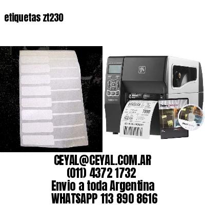 etiquetas zt230