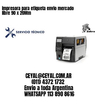 impresora para etiqueta envio mercado libre 90 x 20Mm