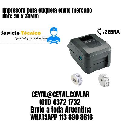impresora para etiqueta envio mercado libre 90 x 30Mm