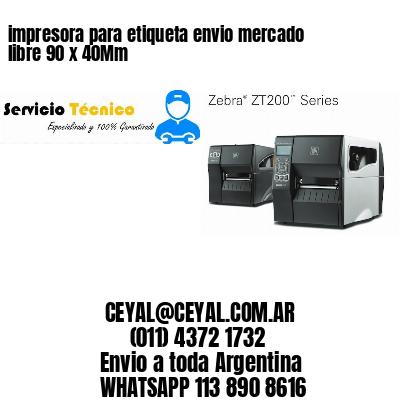 impresora para etiqueta envio mercado libre 90 x 40Mm