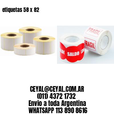 etiquetas 58 x 82