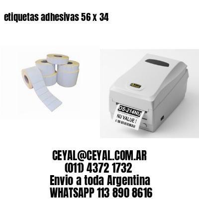 etiquetas adhesivas 56 x 34