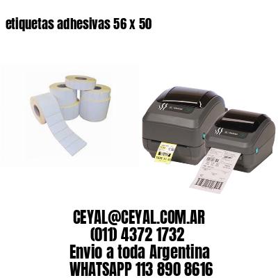 etiquetas adhesivas 56 x 50