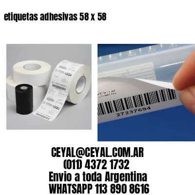 etiquetas adhesivas 58 x 58