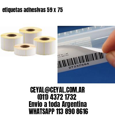 etiquetas adhesivas 59 x 75