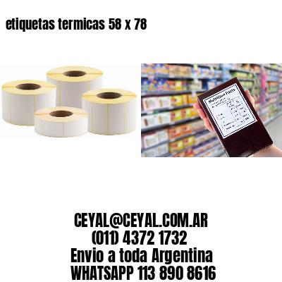 etiquetas termicas 58 x 78