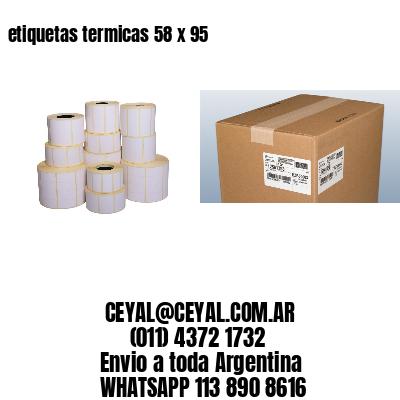 etiquetas termicas 58 x 95