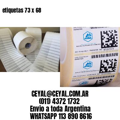 etiquetas 73 x 68