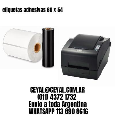 etiquetas adhesivas 60 x 54