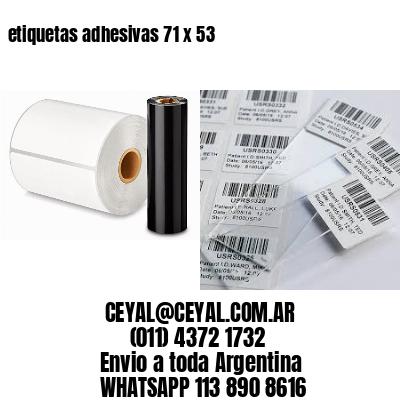 etiquetas adhesivas 71 x 53