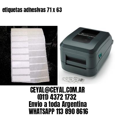 etiquetas adhesivas 71 x 63