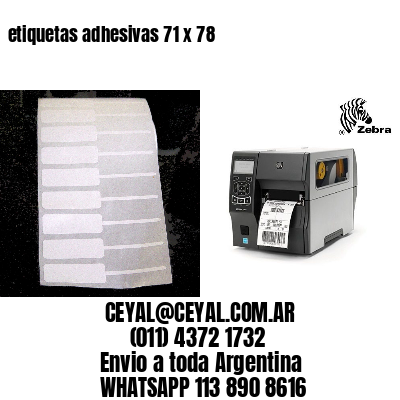 etiquetas adhesivas 71 x 78