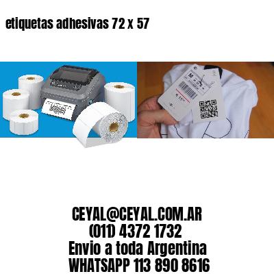 etiquetas adhesivas 72 x 57