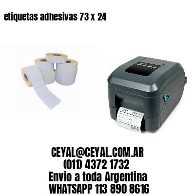 etiquetas adhesivas 73 x 24