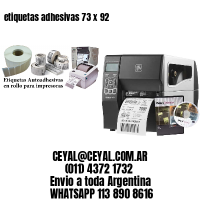 etiquetas adhesivas 73 x 92