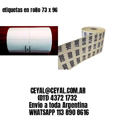 etiquetas en rollo 73 x 96