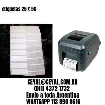 etiquetas 25 x 56