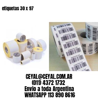 etiquetas 30 x 97