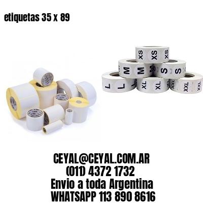 etiquetas 35 x 89