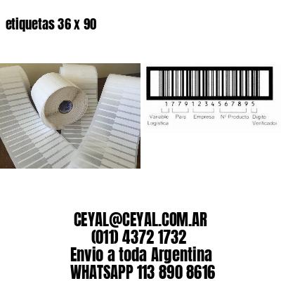 etiquetas 36 x 90