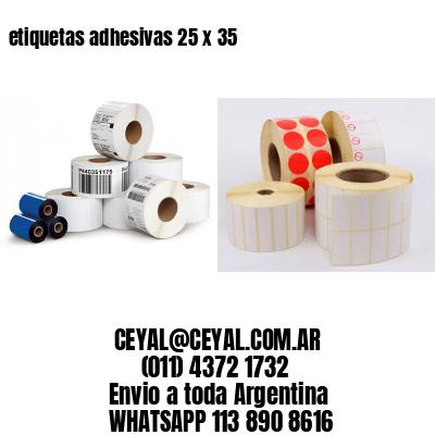 etiquetas adhesivas 25 x 35