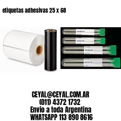 etiquetas adhesivas 25 x 68