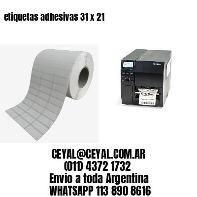 etiquetas adhesivas 31 x 21