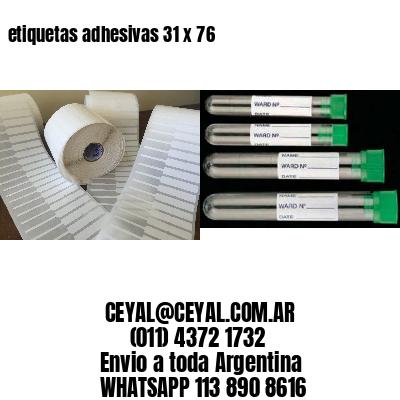 etiquetas adhesivas 31 x 76