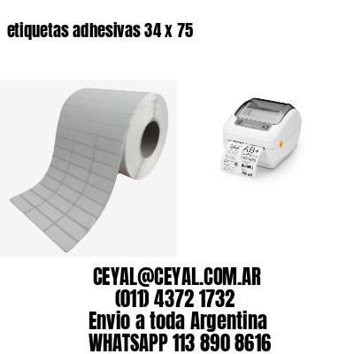 etiquetas adhesivas 34 x 75