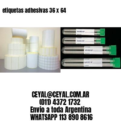 etiquetas adhesivas 36 x 64
