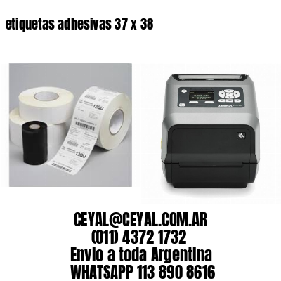 etiquetas adhesivas 37 x 38