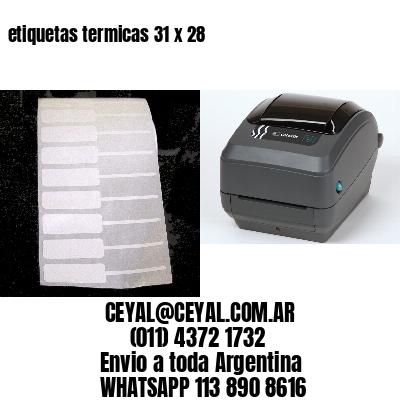 etiquetas termicas 31 x 28