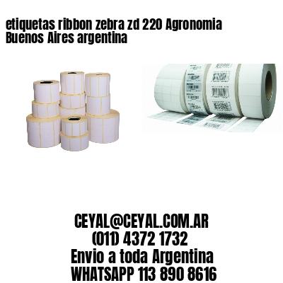 etiquetas ribbon zebra zd 220 Agronomia Buenos Aires argentina