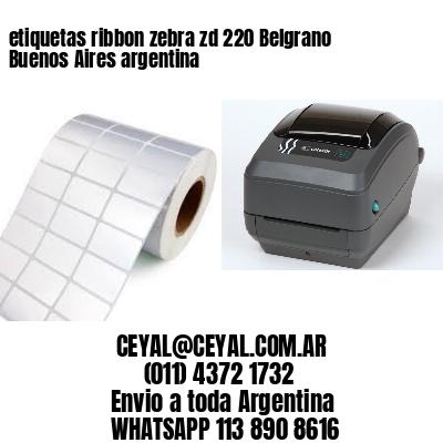 etiquetas ribbon zebra zd 220 Belgrano  Buenos Aires argentina